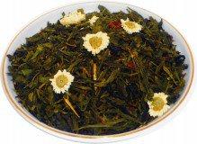 Чай зеленый Улыбка Гейши, 500 г, крупнолистовой зеленый ароматизированный чай