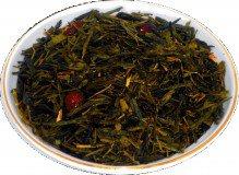 Чай зеленый Дикая вишня, 500 г, крупнолистовой зеленый ароматизированный чай