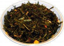 Чай зеленый Лимон с женьшенем, 500 г, крупнолистовой зеленый ароматизированный чай