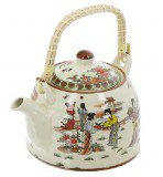 Чайник для чая Женщины, с бамбуковой ручкой, 800 мл