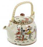 Чайник для чая Женщины, с бамбуковой ручкой, 600 мл
