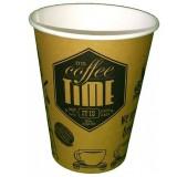 Стакан картонный одинарный под горячие напитки Coffee Time, 300 мл (50шт в упаковке)