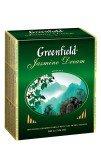 Чай зеленый Greenfield Jasmine Dream пакетированный 100 пакетиков в упаковке